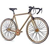 CHRISSON 28' Zoll Fixie RENNRAD Fahrrad FG Road 1.0 Gold matt 2016 Sturmey Archer, Rahmengröße:59 cm