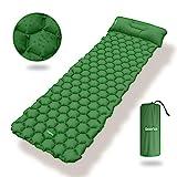 Deeplee Camping Isomatte,Einzelne Schlafmatte Ultraleichte Isomatte für Outdoor,Feuchtigkeitsfes für Wandern,Backpacking,Camping,Strand(Grün)