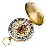 ARINO Taschenkompass Wasserdichter Messingkompass Marschkompass Klassischer Sprungdeckel Compass mit Leuchtziffern für Camping Marsch Outdoor