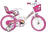 Dino Bikes 144R-UN, Einhorn, Fahrrad, Weiß/Rosa