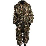 3D-Tarnanzug mit Blättern, Ghillie-Anzug, für Jagd, Scharfschützen, Bogenschießen