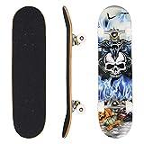 WeSkate Skateboard Komplett Board 79x20cm Holzboard ABEC-7 Kugellager 31 Zoll 7-lagigem Ahornholz, 92A Rollen für Anfänger Kinder Jugendliche und Erwachsene