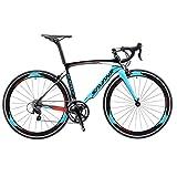 SAVADECK Warwind5.0 Carbon Rennrad 700C Vollcarbon Rahmen Rennräder mit Shimano 105 R7000 22-Fach Kettenschaltung Ultraleichtes Kohlefaser Fahrrad (Blau, 52cm)