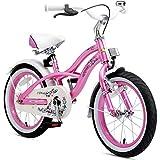 BIKESTAR Kinderfahrrad für Mädchen ab 4-5 Jahre | 16 Zoll Kinderrad Cruiser | Fahrrad für Kinder Mint | Risikofrei Testen